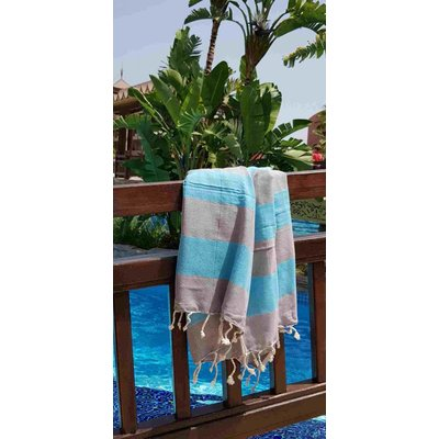 Lalay hamamdoek Stripealicious blue