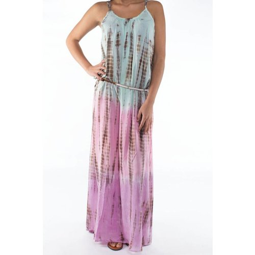 Mzury maxi dress strandjurk Batik multi color maat S/M