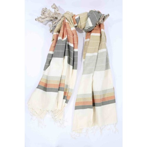 Call it Fouta! hamamdoek XXL Saint Tropez green orange multi