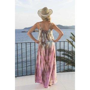 Mzury maxi dress strandjurk Batik multi color