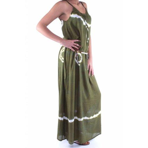 Mzury maxi dress strandjurk Batik green maat S/M