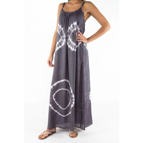 Mzury maxi dress strandjurk Batik gray