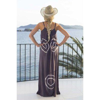 Mzury maxi dress strandjurk Batik graym aat L/XL