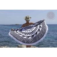 Greek Roundie d'Luxe black & white