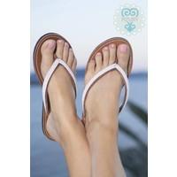 slippers Love white