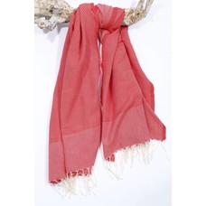 Call it Fouta! hamamdoek Honeycomb coral red