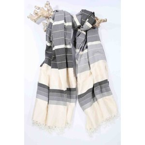 Call it Fouta! hamamdoek XXL Saint Tropez anthracite multi