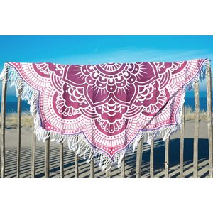 Call it Fouta! Strandlaken Roundie Gypsy Star Flower purple pink