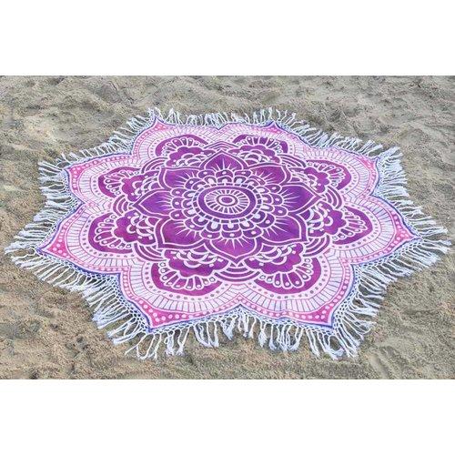 Call it Fouta! Strandlaken Roundie Gypsy Star Flower purple pink