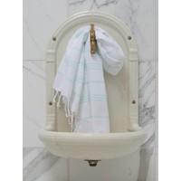 hamam handdoek wit/mint
