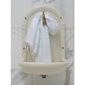 Ottomania hamam handdoek wit/mint
