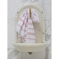 hamam handdoek wit/koper