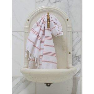 Ottomania hamam handdoek wit/koper