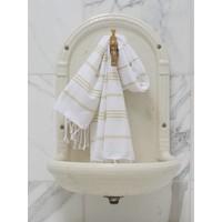 hamam handdoek wit/linden