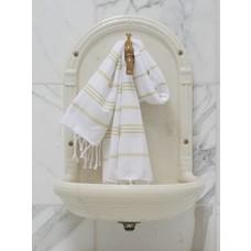 Ottomania hamam handdoek wit/linden