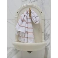hamam handdoek wit/bruin
