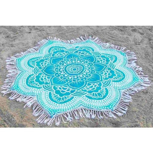 Call it Fouta! Strandlaken Roundie Gypsy Star Flower turquoise