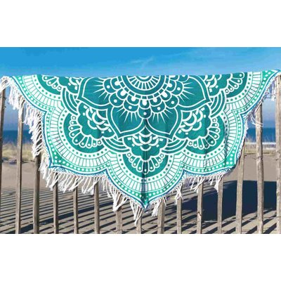 Call it Fouta! Strandlaken Roundie Gypsy Star Flower turquoise