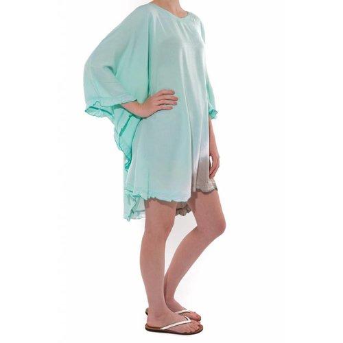 Mzury strandjurkje Batik short dress mint gray - onesize