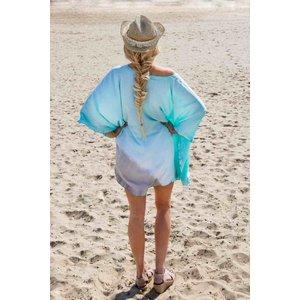 Call it Fouta! strandjurkje Batik short dress mint gray