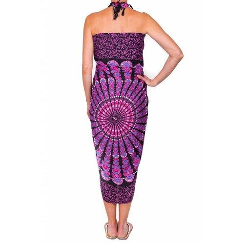 Call it Fouta! pareo Mandala pink black