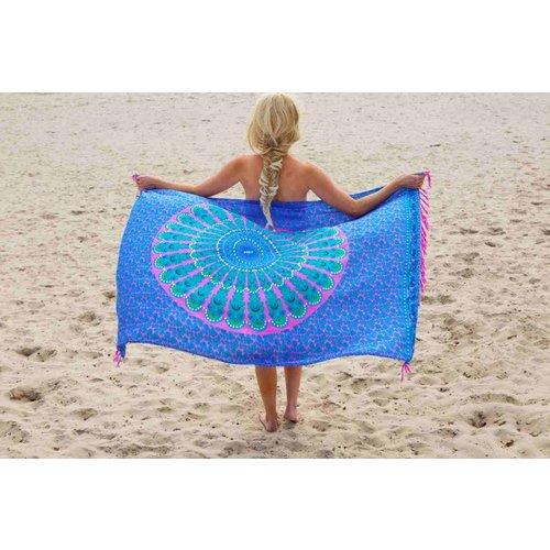 Call it Fouta! pareo Mandala pink blue