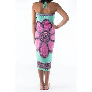 Call it Fouta! Pareo Flower  seagreen tosca