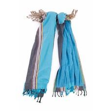 PURE Kenya kikoy XL strandlaken jeans blue