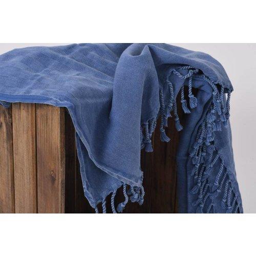 Hamams own hamamdoek Stone denim blue 180x90