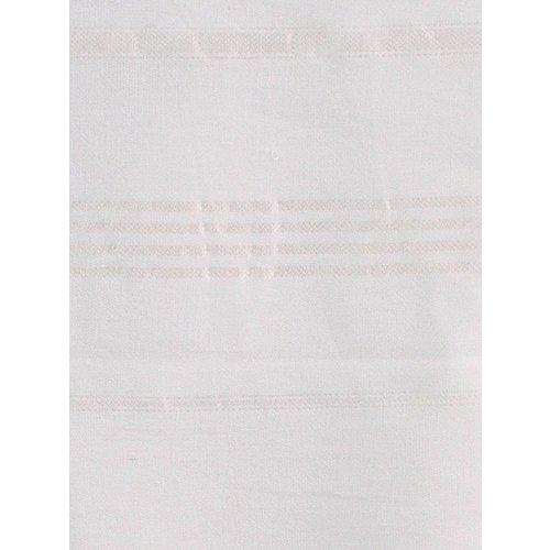 Ottomania hamamdoek wit met glanzend witte streep