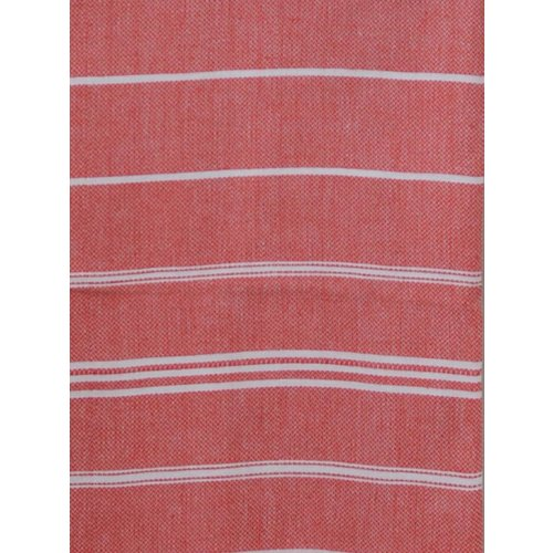 Ottomania hamam handdoek steenrood met witte strepen 100x50cm