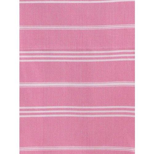 Ottomania hamam handdoek sorbetroze met witte strepen 100x50cm