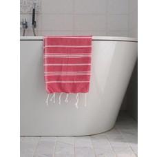 Ottomania hamam handdoek robijnrood