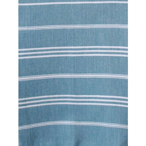 Ottomania hamam handdoek petrol met witte strepen 100x50cm