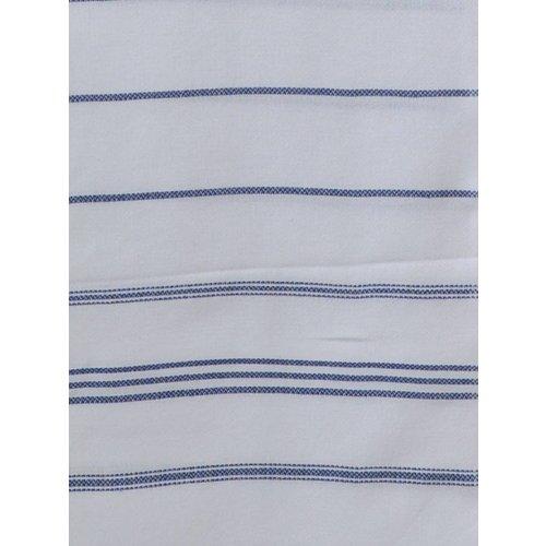 Ottomania hamam handdoek marineblauw met witte strepen 100x50cm