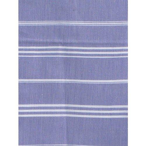 Ottomania hamam handdoek lila met witte strepen 100x50cm