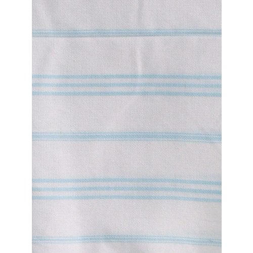 Ottomania hamam handdoek lichtturquoise met witte strepen 100x50cm