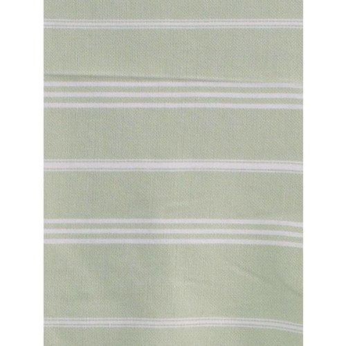 Ottomania hamam handdoek lichtgroen met witte strepen 100x50cm