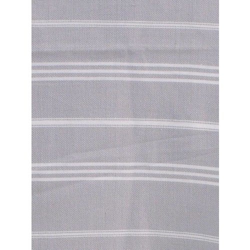 Ottomania hamam handdoek lichtgrijs met witte strepen 100x50cm