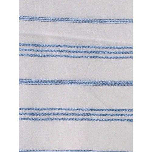 Ottomania hamam handdoek blauw met witte strepen 100x50cm