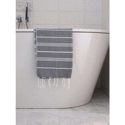 Ottomania hamam handdoek donkergrijs