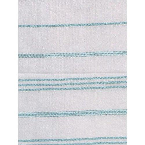 Ottomania hamam handdoek donkerzeegroen met witte strepen 100x50cm