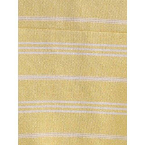 Ottomania hamam handdoek geel met witte strepen 100x50cm