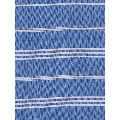 Ottomania hamam handdoek grieksblauw met witte strepen 100x50cm