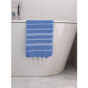 Ottomania hamam handdoek grieksblauw