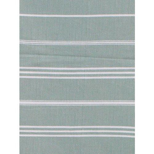 Ottomania hamam handdoek grijsgroen met witte strepen 100x50cm (verkrijgbaar in 4 maten)