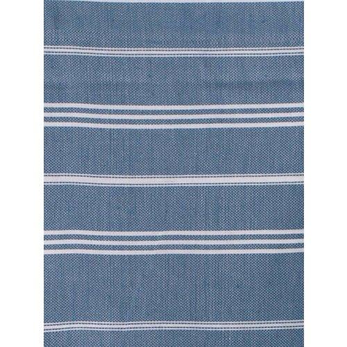 Ottomania hamam handdoek jeansblauw met witte strepen 100x50cm