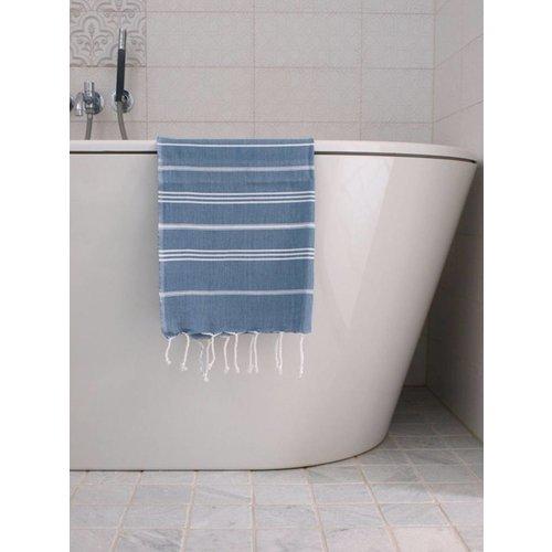 Ottomania hamam handdoek jeansblauw