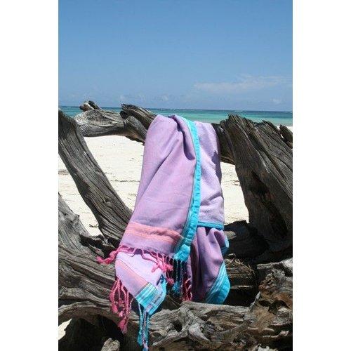 PURE Kenya kikoy kinder strandlaken Watamu purple