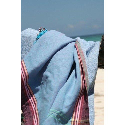 PURE Kenya kikoy kinder strandlaken Nyanza turquoise